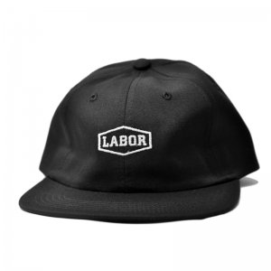 <img class='new_mark_img1' src='//img.shop-pro.jp/img/new/icons5.gif' style='border:none;display:inline;margin:0px;padding:0px;width:auto;' />LABOR CREST LOGO 6PANEL CAP / BLACK (レイバー キャップ)