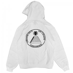 <img class='new_mark_img1' src='//img.shop-pro.jp/img/new/icons5.gif' style='border:none;display:inline;margin:0px;padding:0px;width:auto;' />THEORIES CHAOS PULLOVER HOODIE / WHITE (セオリーズ フーディー/パーカー)