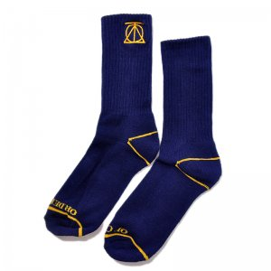 <img class='new_mark_img1' src='//img.shop-pro.jp/img/new/icons55.gif' style='border:none;display:inline;margin:0px;padding:0px;width:auto;' />THEORIES CREST SOCKS / NAVY (セオリーズ  ソックス/靴下)