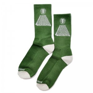 <img class='new_mark_img1' src='//img.shop-pro.jp/img/new/icons55.gif' style='border:none;display:inline;margin:0px;padding:0px;width:auto;' />THEORIES THEORAMID SOCKS / GREEN (セオリーズ  ソックス/靴下)