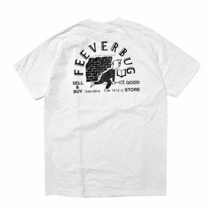 FEEVERBUG THE STORE POCKET TEE / WHITE (フィバーバグ ポケットTシャツ/半袖)