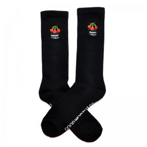 <img class='new_mark_img1' src='//img.shop-pro.jp/img/new/icons5.gif' style='border:none;display:inline;margin:0px;padding:0px;width:auto;' />Good Worth & Co. VIRGINITY IS CURABLE SOCKS / BLACK (グッドワース ソックス/アパレル)