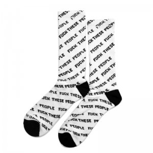 <img class='new_mark_img1' src='//img.shop-pro.jp/img/new/icons5.gif' style='border:none;display:inline;margin:0px;padding:0px;width:auto;' />Good Worth & Co. FUCK THESE PEOPLE SOCKS / WHITE (グッドワース ソックス/アパレル)