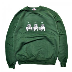 <img class='new_mark_img1' src='//img.shop-pro.jp/img/new/icons5.gif' style='border:none;display:inline;margin:0px;padding:0px;width:auto;' />HELLRAZOR NEVER CHANGE TIL WE DIE CREW SWEAT / FOREST GREEN (ヘルレイザー クルーネックスウェット)