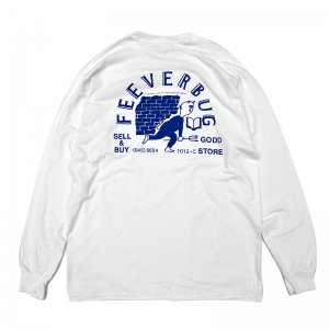 FEEVERBUG THE STORE L/S TEE / WHITE (フィバーバグ ロングスリーブTシャツ/長袖)