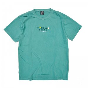 <img class='new_mark_img1' src='//img.shop-pro.jp/img/new/icons5.gif' style='border:none;display:inline;margin:0px;padding:0px;width:auto;' />SAYHELLO HOLIDAY GARMENT DYE TEE / SEA FOAM (セイハロー Tシャツ)