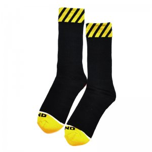 <img class='new_mark_img1' src='//img.shop-pro.jp/img/new/icons5.gif' style='border:none;display:inline;margin:0px;padding:0px;width:auto;' />WKND CAUTION SOCKS / BLACK×YELLOW (ウィークエンド ソックス)