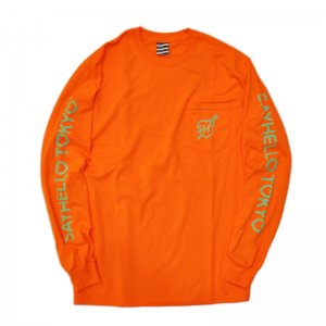 <img class='new_mark_img1' src='//img.shop-pro.jp/img/new/icons1.gif' style='border:none;display:inline;margin:0px;padding:0px;width:auto;' />SAYHELLO Love L/S POCKET TEE /SAFETY ORANGE (セイハロー  ロングスリーブTEE/ロンT)