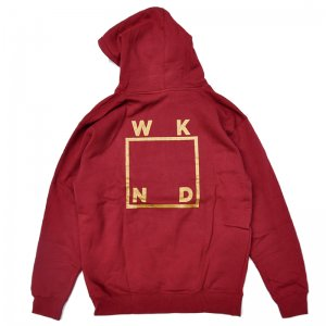 <img class='new_mark_img1' src='//img.shop-pro.jp/img/new/icons5.gif' style='border:none;display:inline;margin:0px;padding:0px;width:auto;' />WKND GOLD LOGO HOODIE / CURRANT (ウィークエンド フーディ/スウェットパーカー)