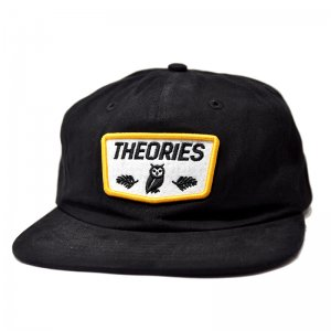 <img class='new_mark_img1' src='//img.shop-pro.jp/img/new/icons5.gif' style='border:none;display:inline;margin:0px;padding:0px;width:auto;' />THEORIES MOLUCH 6PANEL SNAPBACK CAP / BLACK (セオリーズ 6パネルスナップバックキャップ)