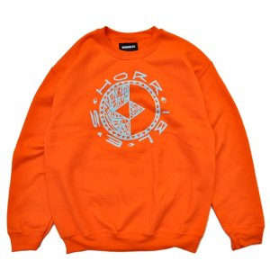 <img class='new_mark_img1' src='//img.shop-pro.jp/img/new/icons5.gif' style='border:none;display:inline;margin:0px;padding:0px;width:auto;' />HORRIBLE'S - HOT&COLD CREWNECK SWEAT / ORANGE (ホリブルズ スウェット/クルーネック)