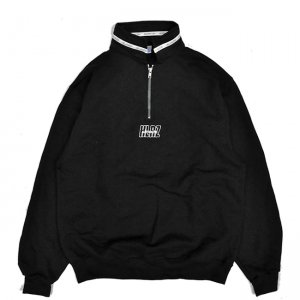 <img class='new_mark_img1' src='//img.shop-pro.jp/img/new/icons5.gif' style='border:none;display:inline;margin:0px;padding:0px;width:auto;' />HELLRAZOR AUTHENTIC NECK LINING HALF ZIP SWEATER / BLACK (ヘルレイザー ハーフジップスウェット)