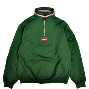 <img class='new_mark_img1' src='//img.shop-pro.jp/img/new/icons5.gif' style='border:none;display:inline;margin:0px;padding:0px;width:auto;' />HELLRAZOR AUTHENTIC NECK LINING HALF ZIP SWEATER / HUNTER GREEN (ヘルレイザー ハーフジップスウェット)