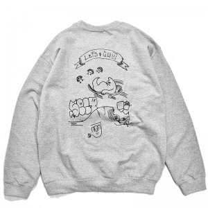 <img class='new_mark_img1' src='https://img.shop-pro.jp/img/new/icons1.gif' style='border:none;display:inline;margin:0px;padding:0px;width:auto;' />FEEVERBUG LET'S GO CREWNECK SWEAT / HEATHER GREY (フィバーバグ クルーネックスウェット)