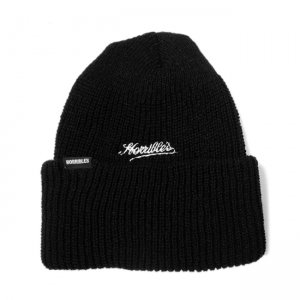 <img class='new_mark_img1' src='//img.shop-pro.jp/img/new/icons5.gif' style='border:none;display:inline;margin:0px;padding:0px;width:auto;' />HORRIBLE'S DIRTY SCRIPT BEANIE / BLACK (ホリブルズ ビーニーキャップ/ニットキャップ)