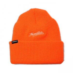<img class='new_mark_img1' src='//img.shop-pro.jp/img/new/icons5.gif' style='border:none;display:inline;margin:0px;padding:0px;width:auto;' />HORRIBLE'S DIRTY SCRIPT BEANIE / ORANGE (ホリブルズ ビーニーキャップ/ニットキャップ)