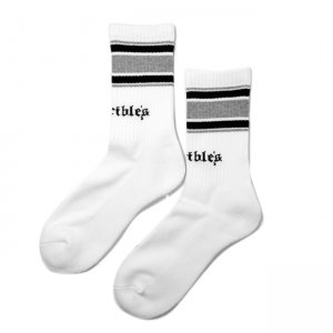 <img class='new_mark_img1' src='//img.shop-pro.jp/img/new/icons5.gif' style='border:none;display:inline;margin:0px;padding:0px;width:auto;' />HORRIBLE'S TEARS LOGO SOCKS / WHITE (ホリブルズ ソックス)
