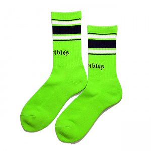 <img class='new_mark_img1' src='//img.shop-pro.jp/img/new/icons5.gif' style='border:none;display:inline;margin:0px;padding:0px;width:auto;' />HORRIBLE'S TEARS LOGO SOCKS / SAFETY GREEN (ホリブルズ ソックス)