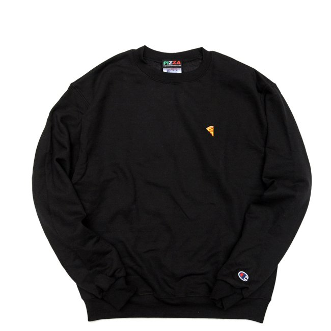 <img class='new_mark_img1' src='//img.shop-pro.jp/img/new/icons5.gif' style='border:none;display:inline;margin:0px;padding:0px;width:auto;' />PIZZA SKATEBOARDS EMOJI LOGO Champion CREWNECK SWEAT / BLACK (ピザスケートボード /クルーネック スウェット)