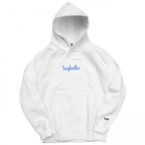 <img class='new_mark_img1' src='//img.shop-pro.jp/img/new/icons5.gif' style='border:none;display:inline;margin:0px;padding:0px;width:auto;' />SAYHELLO CLASSIC LOGO HOODED PARKA / WHITE (セイハロー パーカー/スウェット)