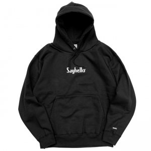 <img class='new_mark_img1' src='//img.shop-pro.jp/img/new/icons5.gif' style='border:none;display:inline;margin:0px;padding:0px;width:auto;' />SAYHELLO CLASSIC LOGO HOODED PARKA / BLACK (セイハロー パーカー/スウェット)