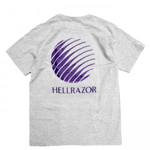 <img class='new_mark_img1' src='//img.shop-pro.jp/img/new/icons5.gif' style='border:none;display:inline;margin:0px;padding:0px;width:auto;' />HELLRAZOR LOGO TEE / HEATHER GREY (ヘルレイザー Tシャツ)