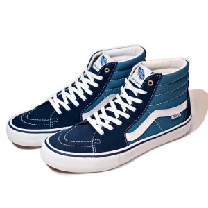 <img class='new_mark_img1' src='//img.shop-pro.jp/img/new/icons5.gif' style='border:none;display:inline;margin:0px;padding:0px;width:auto;' />VANS SK8-HI 【PRO】/ NAVY/STV NAVY (バンズ/ヴァンズ スケートハイプロ スニーカー)