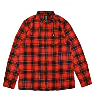 <img class='new_mark_img1' src='//img.shop-pro.jp/img/new/icons5.gif' style='border:none;display:inline;margin:0px;padding:0px;width:auto;' />HARDLUCK MALIBU L/S FLANNEL SHIRT / RED (ハードラック 長袖ネルシャツ)