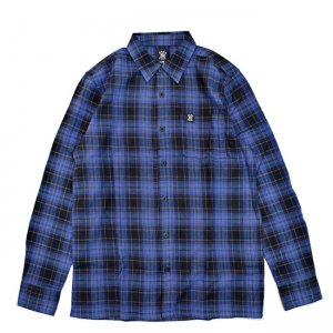 <img class='new_mark_img1' src='//img.shop-pro.jp/img/new/icons5.gif' style='border:none;display:inline;margin:0px;padding:0px;width:auto;' />HARDLUCK DEVILLE L/S FLANNEL SHIRT / NAVY (ハードラック 長袖ネルシャツ)