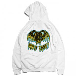 <img class='new_mark_img1' src='https://img.shop-pro.jp/img/new/icons5.gif' style='border:none;display:inline;margin:0px;padding:0px;width:auto;' />MAKA LASSI WING SKULL HOODIE / WHITE (マカラッシ フーディー/パーカー スウェット)