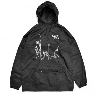<img class='new_mark_img1' src='//img.shop-pro.jp/img/new/icons5.gif' style='border:none;display:inline;margin:0px;padding:0px;width:auto;' />MAKA LASSI FLOWER ANORAK WINDBREAKER JACKET / BLACK (マカラッシ アノラックジャケット)