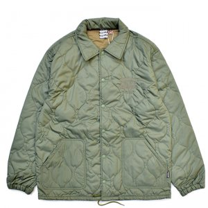 <img class='new_mark_img1' src='//img.shop-pro.jp/img/new/icons5.gif' style='border:none;display:inline;margin:0px;padding:0px;width:auto;' />SAYHELLO LOVE QUILTING COACH JACKET / Military Green (セイハロー コーチジャケット/中綿キルティングジャケット)