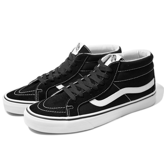 <img class='new_mark_img1' src='//img.shop-pro.jp/img/new/icons5.gif' style='border:none;display:inline;margin:0px;padding:0px;width:auto;' />VANS SK8-MID REISSUE / BLACK/T.WHITE (バンズ/ヴァンズ スケートミッド スニーカー)