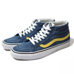 <img class='new_mark_img1' src='//img.shop-pro.jp/img/new/icons5.gif' style='border:none;display:inline;margin:0px;padding:0px;width:auto;' />VANS SK8-MID REISSUE / VINTAGE INDIGO/PINEAPPLE(バンズ/ヴァンズ スケートミッド スニーカー)