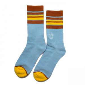 <img class='new_mark_img1' src='//img.shop-pro.jp/img/new/icons5.gif' style='border:none;display:inline;margin:0px;padding:0px;width:auto;' />WKND STRIPE SOCKS / BLUE (ウィークエンド ソックス)