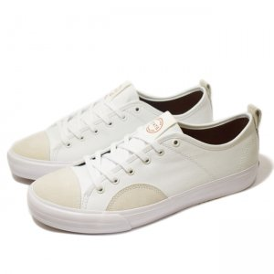 <img class='new_mark_img1' src='https://img.shop-pro.jp/img/new/icons5.gif' style='border:none;display:inline;margin:0px;padding:0px;width:auto;' />STATE FOOTWEAR HARLEM / White/White Canvas/Suede (ステイト フットウエア スケートシューズ)