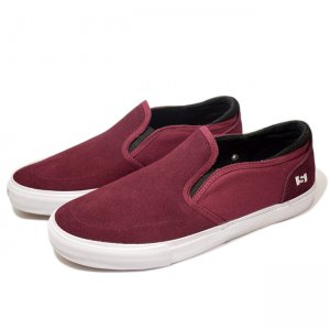 <img class='new_mark_img1' src='https://img.shop-pro.jp/img/new/icons5.gif' style='border:none;display:inline;margin:0px;padding:0px;width:auto;' />STATE FOOTWEAR KEYS / Black Cherry/White Suede (ステイト フットウエア スケートシューズ)