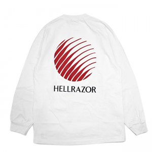 <img class='new_mark_img1' src='//img.shop-pro.jp/img/new/icons5.gif' style='border:none;display:inline;margin:0px;padding:0px;width:auto;' />HELLRAZOR OPENING LOGO L/S Shirts / WHITE (ヘルレイザー ロンT/長袖Tシャツ)