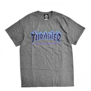 <img class='new_mark_img1' src='//img.shop-pro.jp/img/new/icons5.gif' style='border:none;display:inline;margin:0px;padding:0px;width:auto;' />THRASHER FLAME LOGO TEE / DARK HEATHER (スラッシャー ロゴTシャツ)