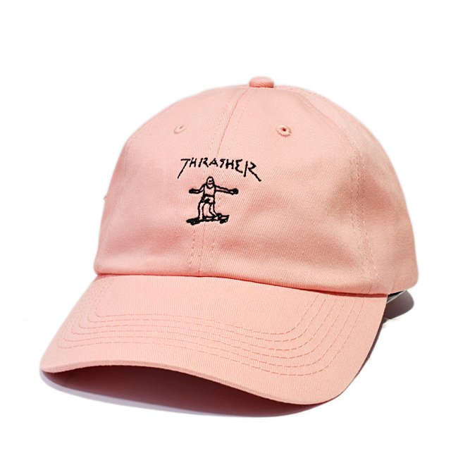<img class='new_mark_img1' src='//img.shop-pro.jp/img/new/icons5.gif' style='border:none;display:inline;margin:0px;padding:0px;width:auto;' />THRASHER GONZ OLD TIMER HAT / LIGHT PINK (スラッシャー 6パネルボールキャップ)