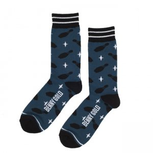<img class='new_mark_img1' src='//img.shop-pro.jp/img/new/icons5.gif' style='border:none;display:inline;margin:0px;padding:0px;width:auto;' />BENNY GOLD STRIKE SOCKS / PACIFIC BLUE (ベニーゴールド ソックス)