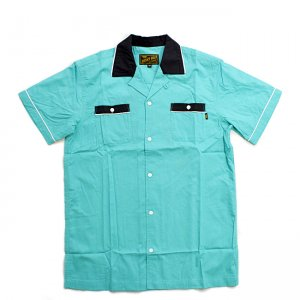 <img class='new_mark_img1' src='//img.shop-pro.jp/img/new/icons5.gif' style='border:none;display:inline;margin:0px;padding:0px;width:auto;' />BENNY GOLD STRIKE BOWLING SHIRT / SEAFOAM (ベニーゴールド ボーリングシャツ/半袖シャツ)