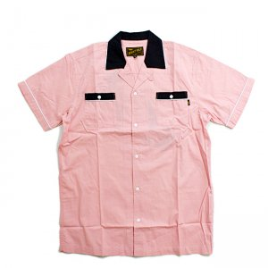 <img class='new_mark_img1' src='//img.shop-pro.jp/img/new/icons5.gif' style='border:none;display:inline;margin:0px;padding:0px;width:auto;' />BENNY GOLD STRIKE BOWLING SHIRT / ROSE (ベニーゴールド ボーリングシャツ/半袖シャツ)
