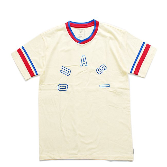 <img class='new_mark_img1' src='//img.shop-pro.jp/img/new/icons5.gif' style='border:none;display:inline;margin:0px;padding:0px;width:auto;' />【30% OFF】QUASI HOMER SOCCER SHIRT / CREME (クアジ Tシャツ/半袖)