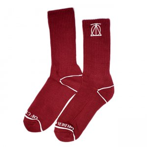 <img class='new_mark_img1' src='//img.shop-pro.jp/img/new/icons55.gif' style='border:none;display:inline;margin:0px;padding:0px;width:auto;' />THEORIES CREST SOCKS / CRIMSON (セオリーズ  ソックス/靴下)
