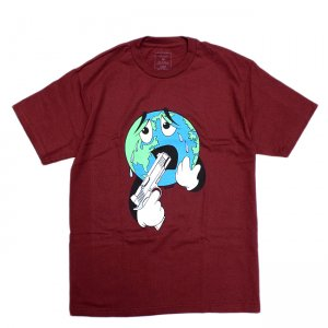<img class='new_mark_img1' src='//img.shop-pro.jp/img/new/icons5.gif' style='border:none;display:inline;margin:0px;padding:0px;width:auto;' />QUASI WORLD TEE / BURGUNDY (クアジ Tシャツ/半袖)