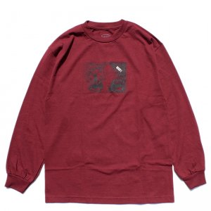 <img class='new_mark_img1' src='//img.shop-pro.jp/img/new/icons5.gif' style='border:none;display:inline;margin:0px;padding:0px;width:auto;' />LABOR FLY L/S TEE / BURGUNDY (レイバー ロングスリーブTシャツ/長袖Tシャツ)