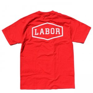 <img class='new_mark_img1' src='//img.shop-pro.jp/img/new/icons5.gif' style='border:none;display:inline;margin:0px;padding:0px;width:auto;' />LABOR CREST LOGO TEE / RED (レイバー Tシャツ/半袖Tシャツ)