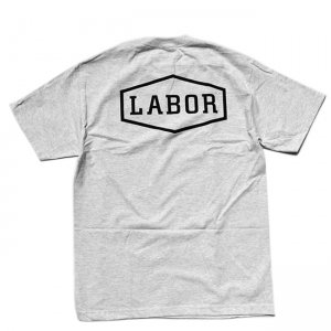 <img class='new_mark_img1' src='//img.shop-pro.jp/img/new/icons5.gif' style='border:none;display:inline;margin:0px;padding:0px;width:auto;' />LABOR CREST LOGO TEE / ASH (レイバー Tシャツ/半袖Tシャツ)
