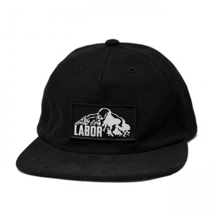 <img class='new_mark_img1' src='//img.shop-pro.jp/img/new/icons5.gif' style='border:none;display:inline;margin:0px;padding:0px;width:auto;' />LABOR SKULL MOUNTAIN 5PANEL CAP / BLACK (レイバー キャップ)